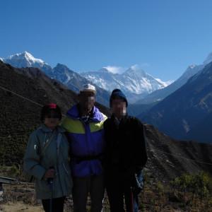 世界百名山、そしてエベレストをバックに
