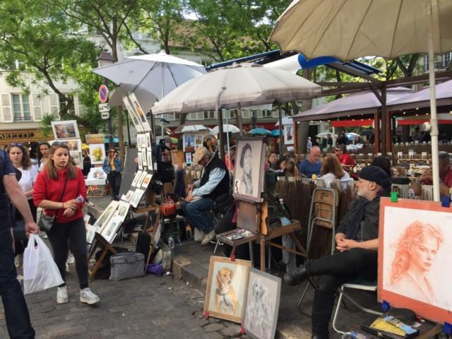 テルトル広場|モンマルトル|パリ||フランス旅行@ブループラネットツアー