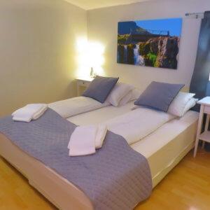 ホテル寝室 アイスランド旅行@ブループラネットツアー