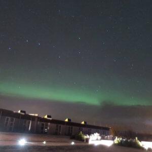 ホテルでオーロラを待機 アイスランド旅行@ブループラネットツアー