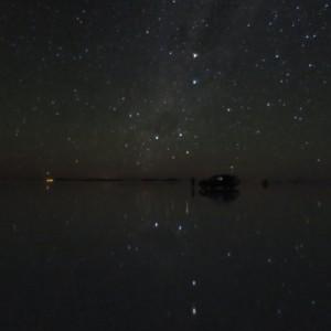 ウユニ塩湖の星空 天空の鏡 ボリビア'・ウユニ塩湖旅行@ブループラネットツアー