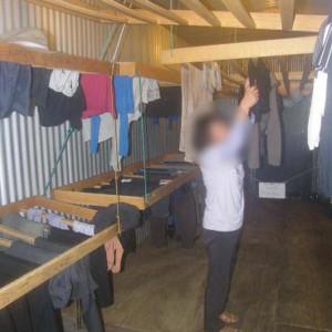 ミルフォードトラックの乾燥室