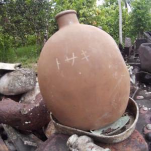 日本兵の名前が残る水筒