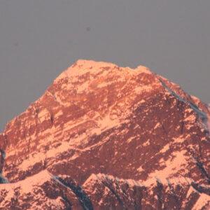 コンデ|夕焼けのエベレスト|ネパール・エベレスト街道トレッキング旅行@ブループラネットツアー