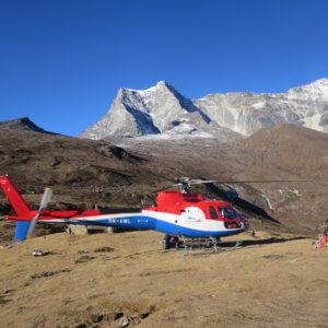 ヘリでコンデへ|ネパール・エベレスト街道トレッキング旅行@ブループラネットツアー
