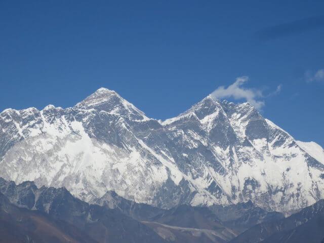 コンデから絶景のエベレスト