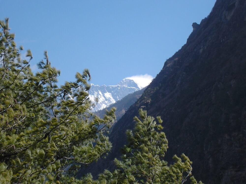 エベレスト街道からのエベレスト|ネパール・エベレスト街道トレッキング旅行@ブループラネットツアー