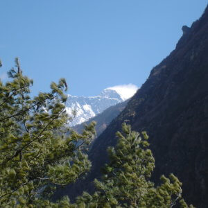エベレスト街道からのエベレスト ネパール・エベレスト街道トレッキング旅行@ブループラネットツアー