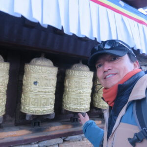 マニ車 ネパール・エベレスト街道トレッキング旅行@ブループラネットツアー
