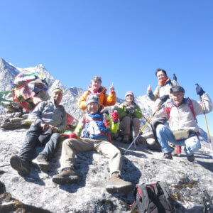 パラクピーク山頂|ネパール・エベレスト街道トレッキング旅行@ブループラネットツアー