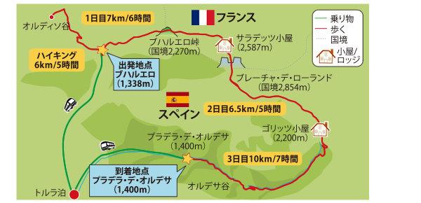 ピレネー地図