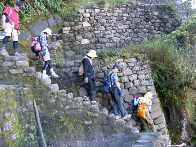 ワイナピチュの石段