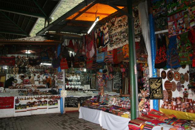 マチュピチュ村のマーケット