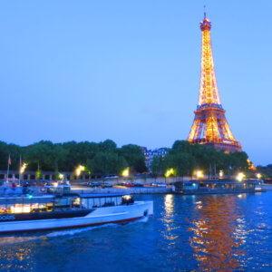 夕暮れのディナークルーズ フランス旅行@ブループラネットツアー