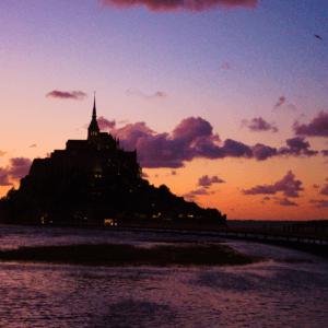 モンサンミッシェルの夕焼け|フランス旅行@ブループラネットツアー